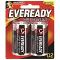 Battery Eveready Super Heavy Duty Size D - 2'