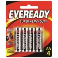 Battery Eveready Heavy Duty AA - 4'