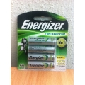 Battery- Energizer Rechargeable AA - 1400MAH -  4'