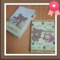 Rilakkuma Plastic Cover Notebook A7