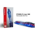 Stabilo 308 Rectractable Ball Pen - Fine